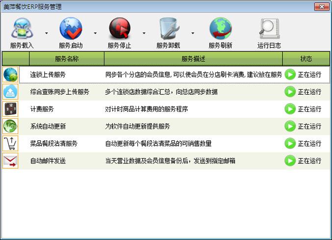 美萍餐饮ERP管理软件-服务程序